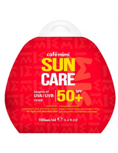 Crema Solar Cara y Cuerpo SPF 50+ Waterproof
