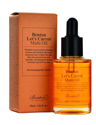 Benton Let's Carrot Multi Oil 30ml- Para Cara y Pelo