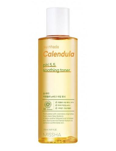 Missha Su:nhada Calendula pH Balancing Soothing Toner - Calmante e Hidratante