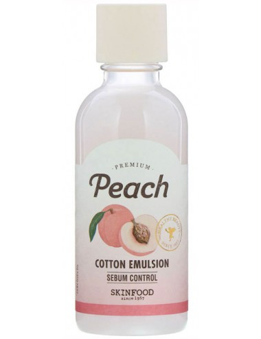 SkinFood Premium Peach Cotton Emulsion - Piel grasa, matificante