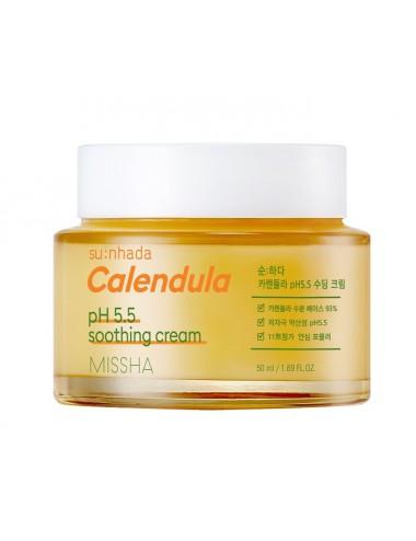 Missha Su:nhada Calendula pH Balancing Soothing Cream - Calmante e Hidratante