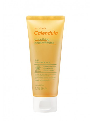 Missha Su:nhada Calendula pH Balancing Smoothing Peel Off Mask - Calmante e Hidratante