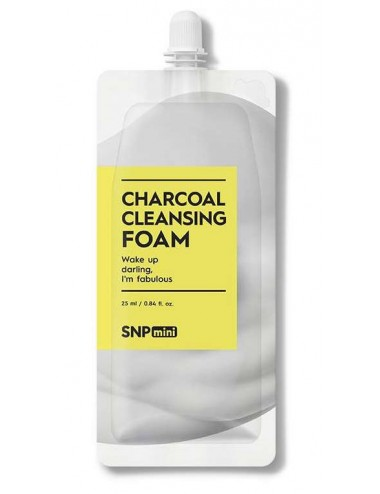 SNP Mini Charcoal Cleansing Foam - Espuma con Carbón Activo