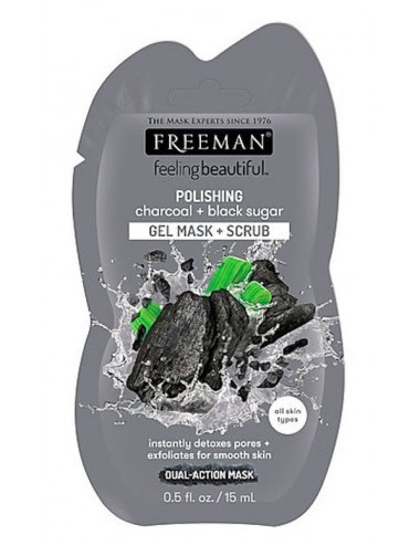 Freeman Polishing Charcoal + Black Sugar - Detox y Exfoliante