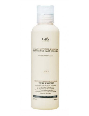 La'dor TripleX3 Natural Shampoo - Sin siliconas ni sulfatos