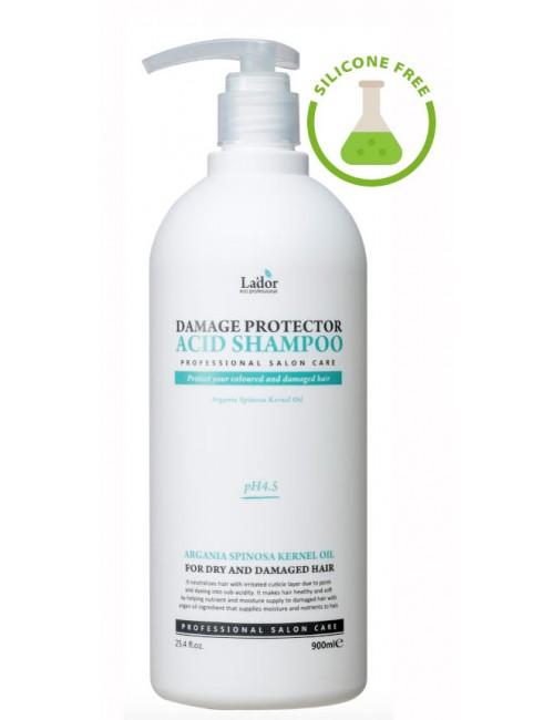 La'dor Damage Protector Acid Shampoo 900ml- Pelo teñido, permanentado