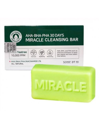 Some By Mi AHA BHA PHA Miracle Cleansing Bar. Limpiador Anti Acné