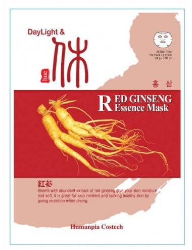 DayLigth & Hue Red Gingseng Essence Mask - Revitalizante e hidratante