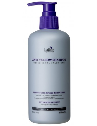 La'dor Anti-Yellow Shampoo - Champú Cabello Rubio o con Canas
