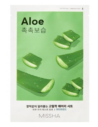 Mascarilla Hidratante y Calmante MISSHA Airy Fit Sheet Mask (Aloe)