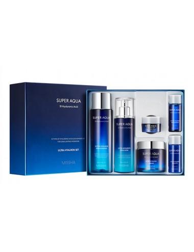 Super Aqua Ultra Hyalron Set -  Con10 tipos de ácido hialurónico