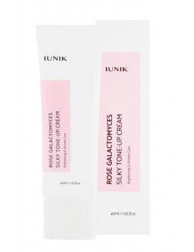 Iunik Rose Galactomyces Silky Tone-Up Cream - Anti-edad, iluminadora