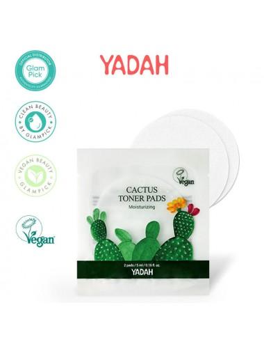 Tónico Vegano Exfoliante YADAH Cactus Toner Pads (2 pads)