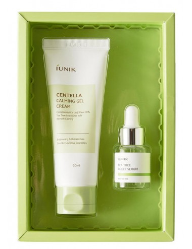 Iunik Centella Edition Skin Care Set- Crema (60ml) + Serum(15ml)