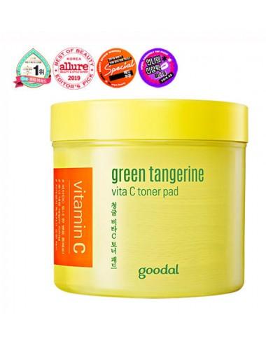 Goodal Green Tangerine Vita C Toner Pad con Vitamina C y Ácidos Frutales