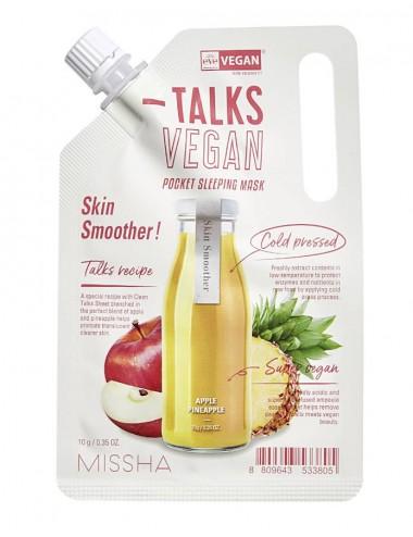 Missha Talks Vegan Pocket Sleeping Mask Skin Smoother- Elimina Células Muertas