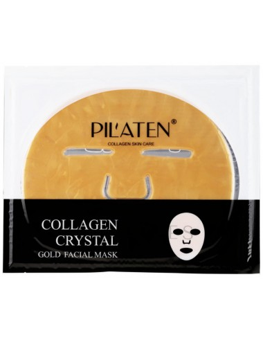 Pilaten Collagen Crystal Gold Facial Mask - Con colágeno e hialurónico