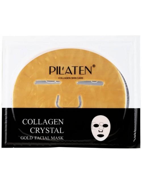 Pilaten Collagen Crystal Gold Facial Mask - Con colágeno e hialurónico