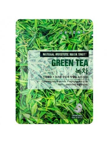 Natural Moisture Mask Sheet Green Tea Mascarilla Antioxidante de Té Verde