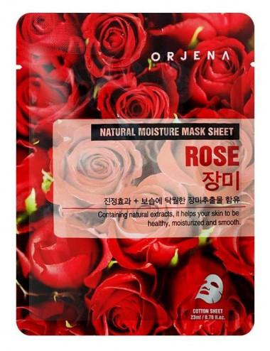 Orjena Natural Moisture Mask Sheet Rose Mascarilla iluminadora de Rosa