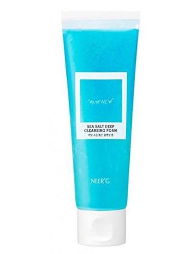 Neerg Sea Salt Deep Cleansing Foam - Espuma limpiadora para piel sensible