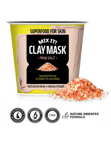 Farm Skin Superfood For Skin Mix It! Clay Mask Pink Salt - Ilumina y Nutre