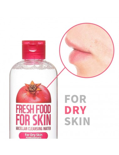 Fresh Food For Skin Micellar Cleasing Water Pomegranate - Piel Seca