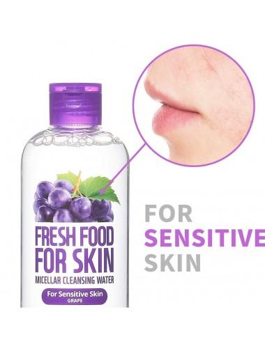 Fresh Food For Skin Micellar Cleasing Water Grape - Piel Sensible