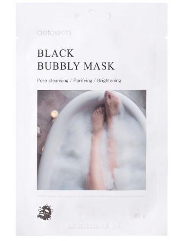 Black Bubbly Mask- Mascarilla de burbujas purificante, control de poros e iluminadora