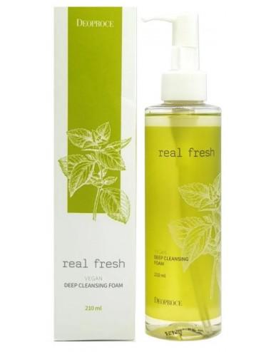 Deoproce Real Fresh Vegan Deep Cleansing Foam - Espuma limpiadora