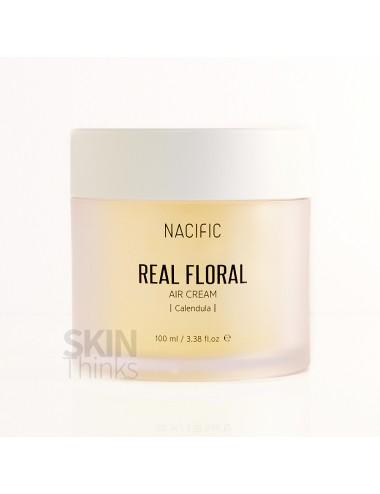 Nueva versión - NACIFIC Real Floral Air Cream Calendula- Caléndula y Ácido Hialurónico 100ml