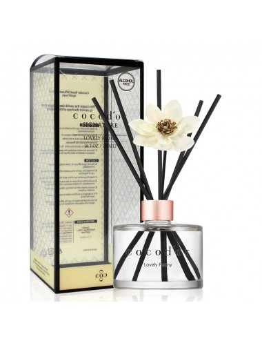 Difusor White Flower Reed Diffuser Lovely Peony