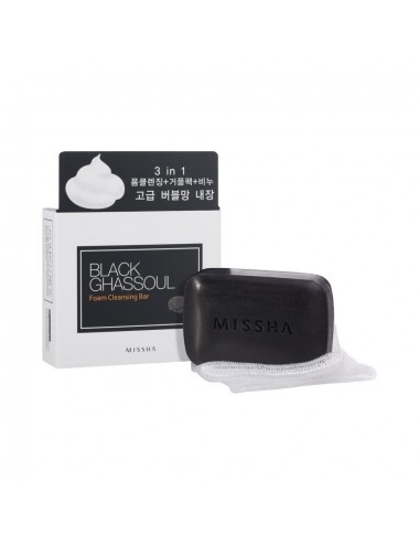Jabón para Tratamiento de Poros  MISSHA Black Ghassoul