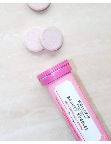 WELLEXIR Beauty Bubbles - Suplemento con Q10, vitamina E, vitamina C y biotina