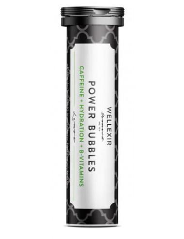 WELLEXIR Power Bubbles - Suplemento con Cafeína, electrolitos y vitaminas