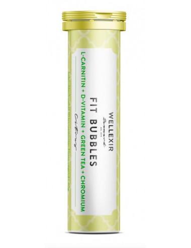 WELLEXIR Fit Bubbles- Suplemento con vitamina D, L-carnitina, extracto de té verde y cromo