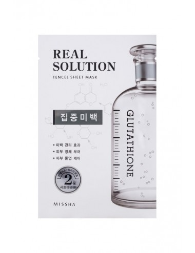 Mascarilla Anti-Manchas Intensiva de Glutatión Real Solution Tencel Sheet Mask Glutathione
