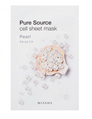Mascarilla de algodón MISSHA Pure Source Sheet Pearl Mask