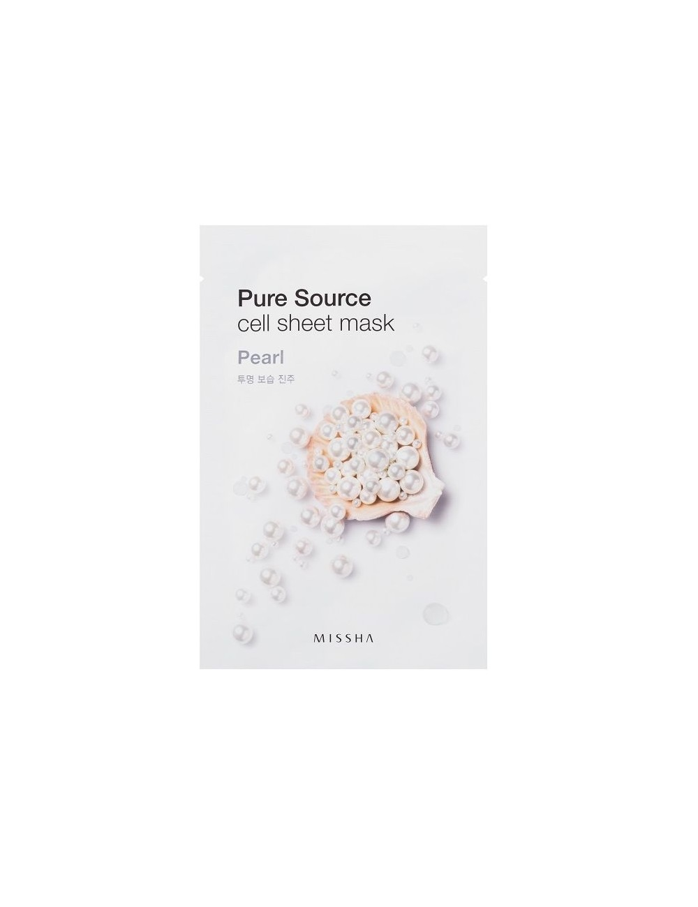 Mascarilla de algodón MISSHA Pure Source Sheet Pearl Mask