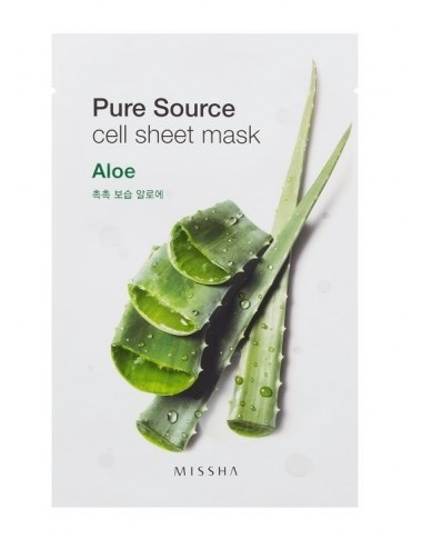 Mascarilla de algodón MISSHA Pure Source Sheet Aloe Mask