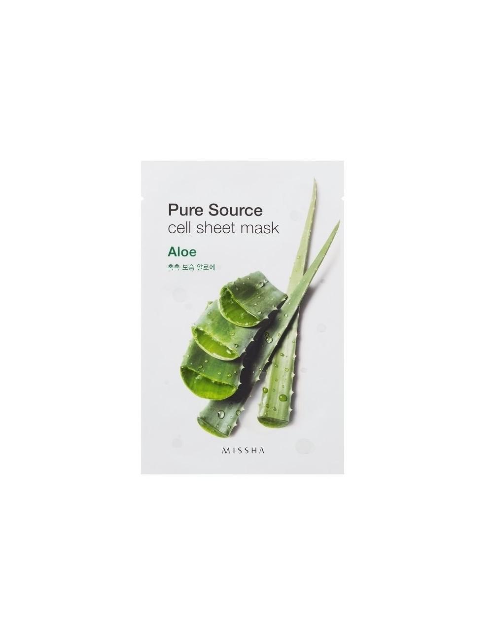 Mascarilla de algodón MISSHA Pure Source Sheet Aloe Mask