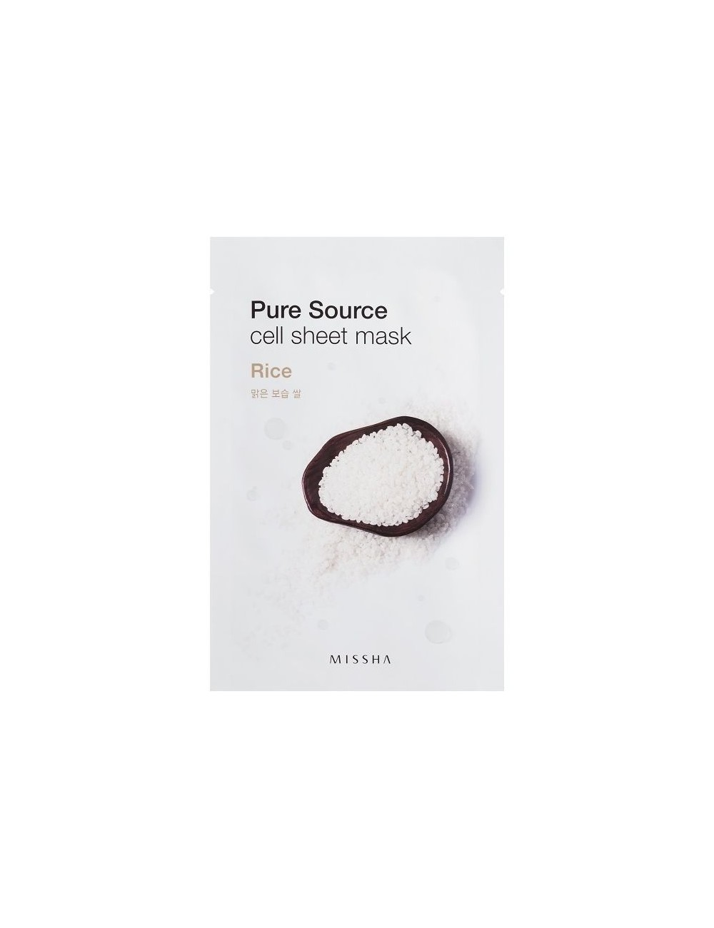 Mascarilla de algodón MISSHA Pure Source Sheet Rice Mask