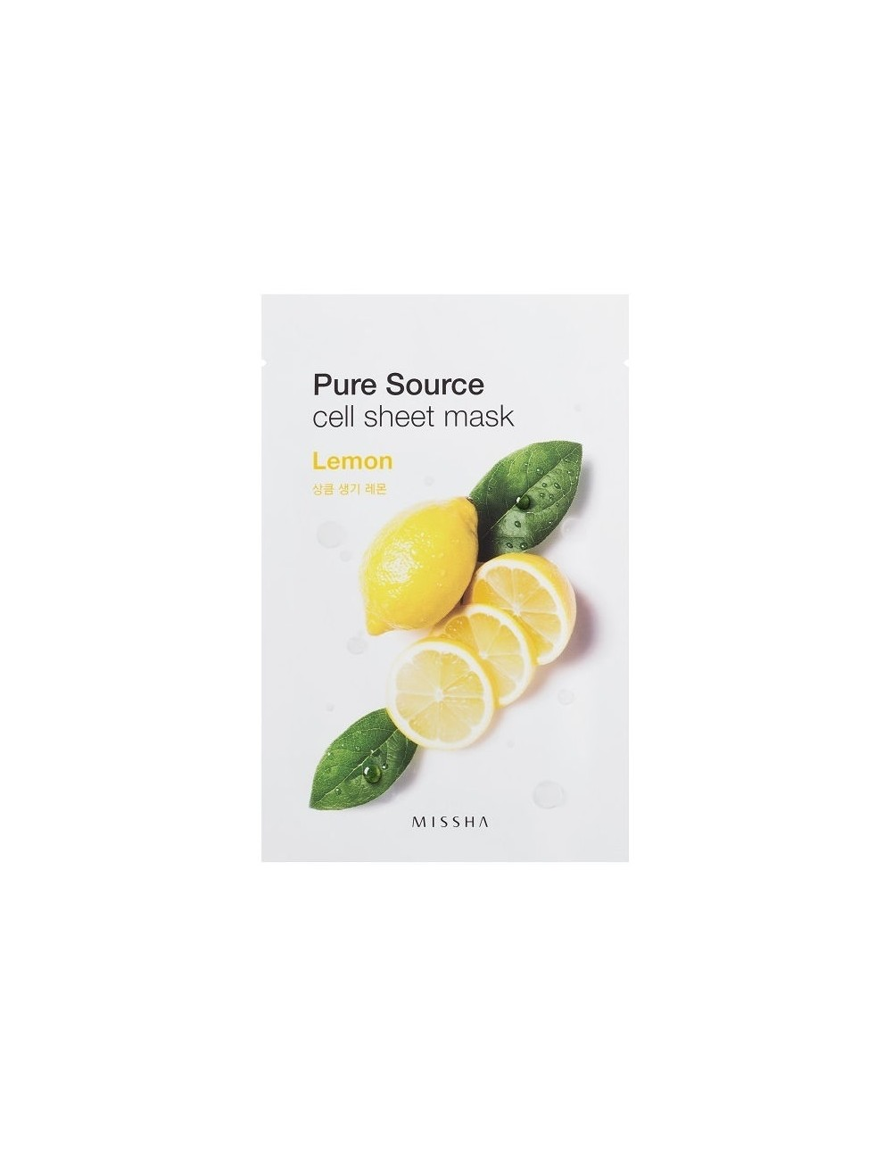 Mascarilla de algodón MISSHA Pure Source Sheet Lemon Mask