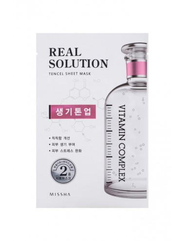 Mascarilla Intensiva Iluminadora MISSHA Real Solution Tencel Sheet Mask (Brightening) VITAMIN COMPLEX