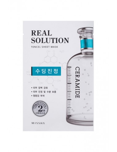 Mascarilla Intensiva Calmante MISSHA Real Solution Tencel Sheet Mask (Soothing) CERAMIDE