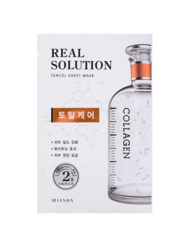 Mascarilla Intensiva Anti Arrugas y Anti Manchas con Colágeno MISSHA Real Solution Tencel Sheet Mask (Total Care) COLLAGEN