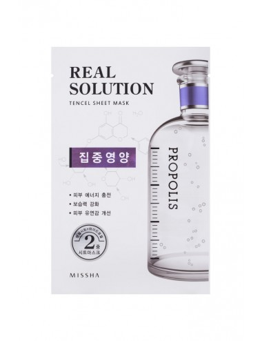 Mascarila Intensiva MISSHA Real Solution Tencel Sheet Mask (Vitalizing) PROPOLIS