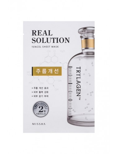 Mascarilla Intensiva  Anti Arrugas MISSHA Real Solution Tencel Sheet Mask (Wrinkle Caring) TRYLAGEN