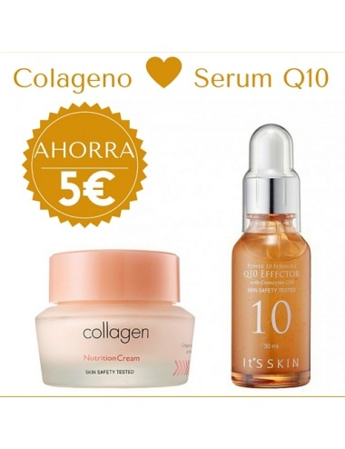 It's Skin Pack Súper Reafirmante - Collagen Voluming Cream + Serum Power 10 Formula Q10 Effector