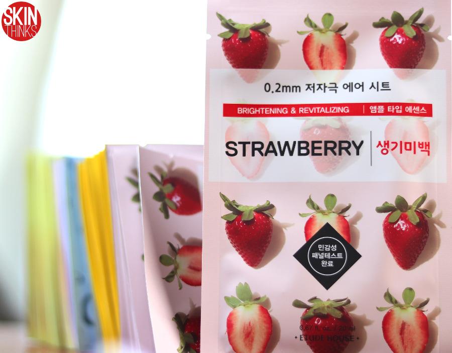 Etude House 0.2 Therapy Air Mask Strawberry Mascarilla Iluminadora y Antimanchas